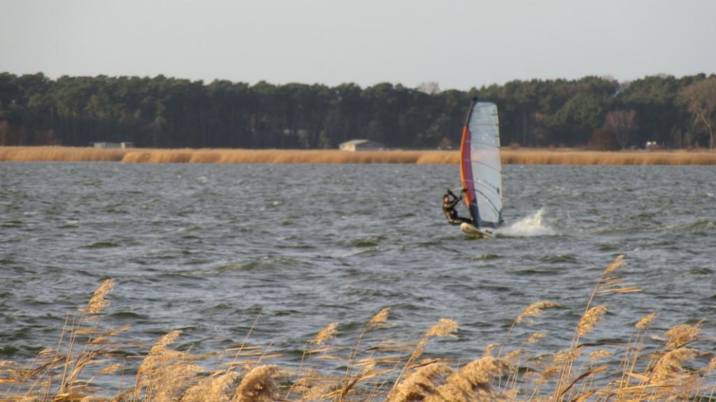 Sportler auf dem Achterwasser